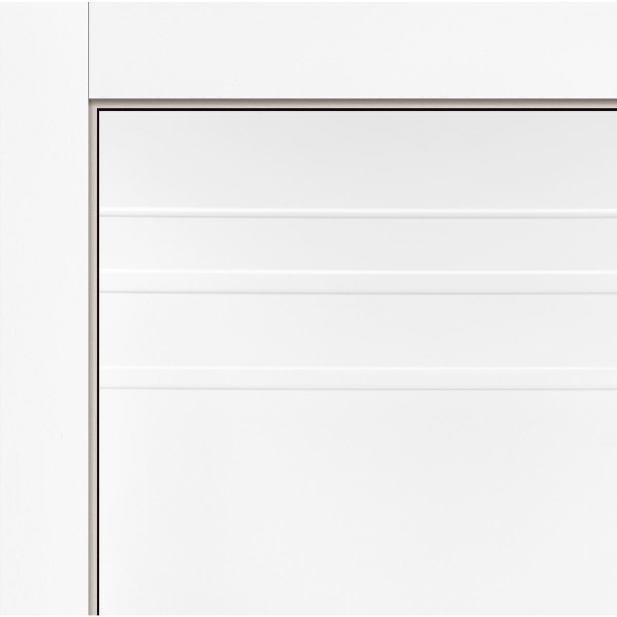 Дверь Межкомнатная Глухая С Замком В Комплекте Рива 90x200 Эмаль Цвет Белый