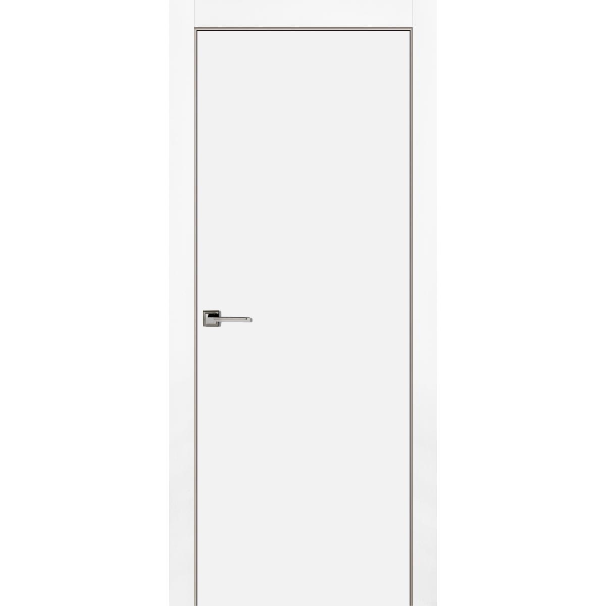 Дверь Межкомнатная Глухая С Замком В Комплекте 60x200 Эмаль Цвет Белый