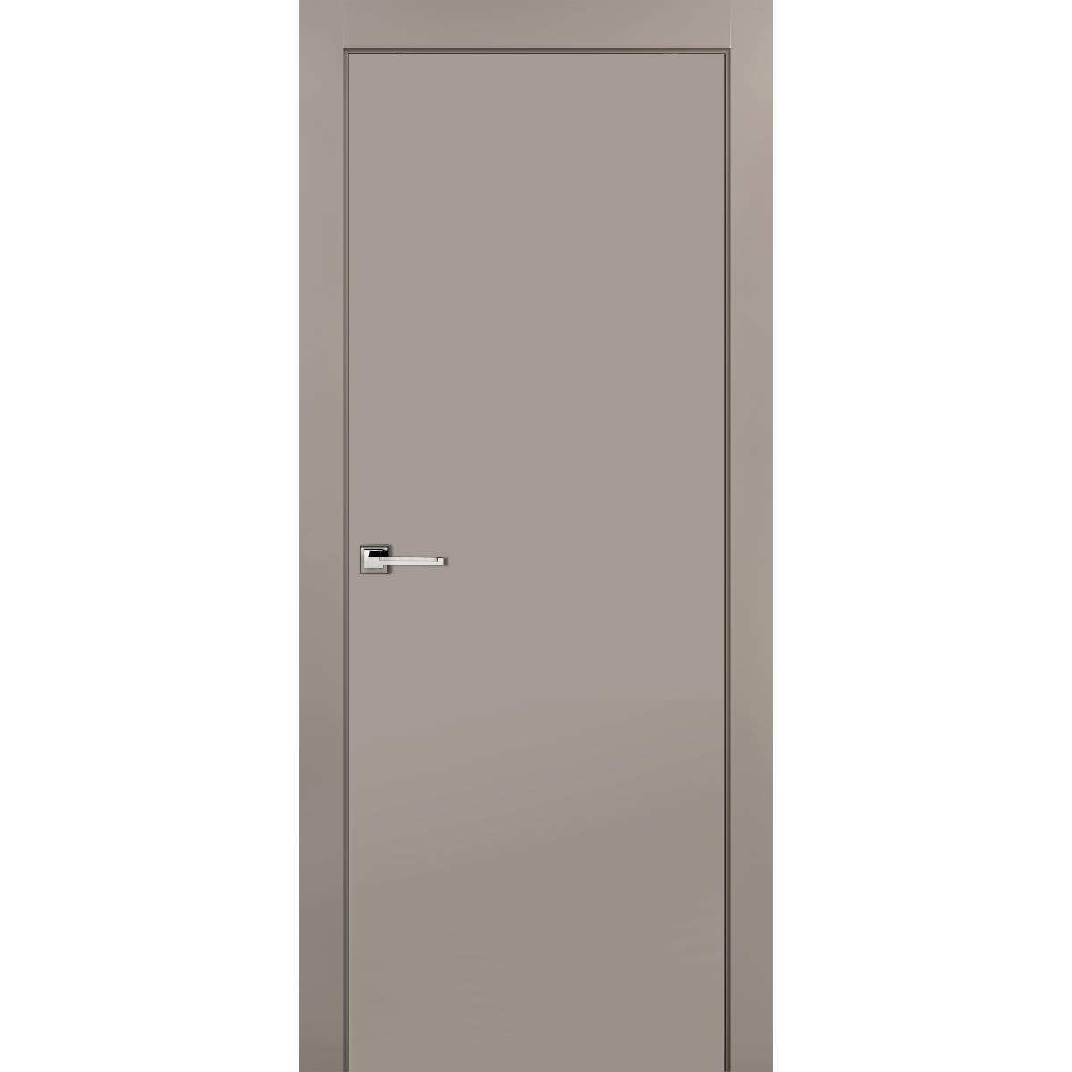 Дверь межкомнатная глухая с замком в комплекте 200x90 см эмаль цвет мускат