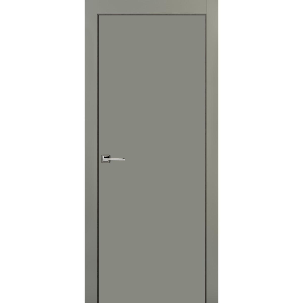 Дверь Межкомнатная Глухая С Замком В Комплекте 200x80 Эмаль Цвет Грей