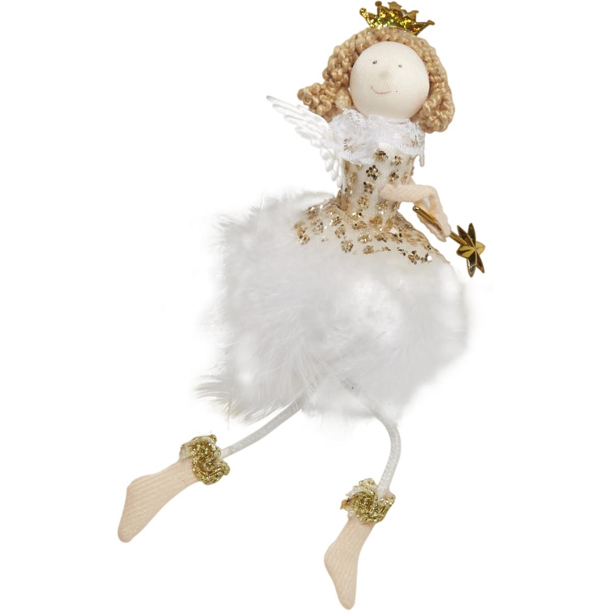 Мягкая Игрушка Ангелочек 18 Цвет Белый/Желтый
