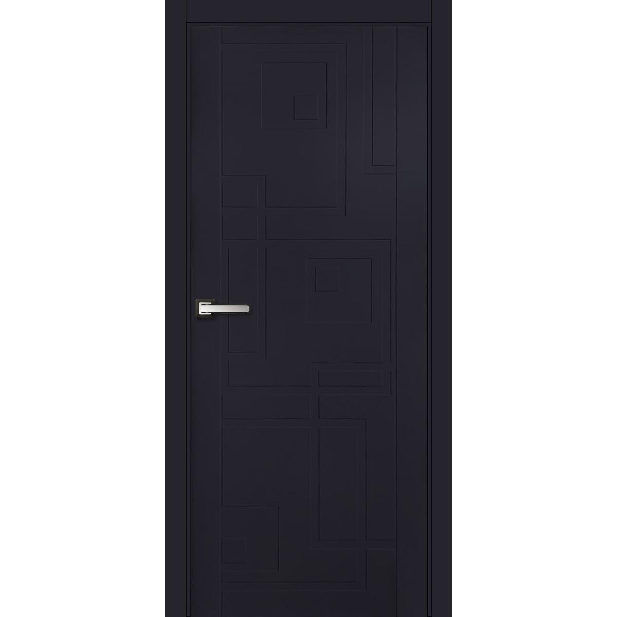 Дверь Межкомнатная Глухая Верде 200x80 Эмаль Цвет Синий С Фурнитурой