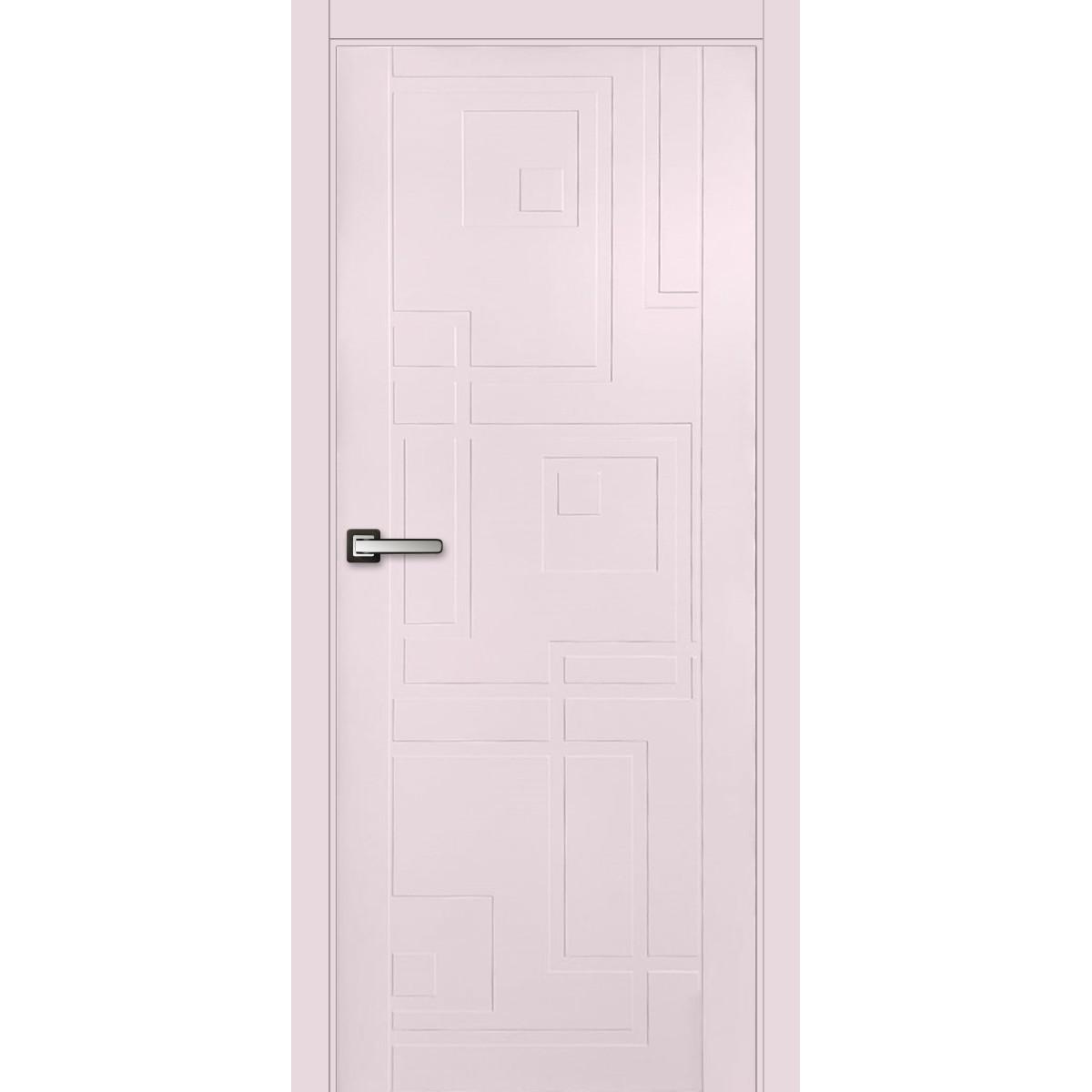 Дверь межкомнатная глухая Верде 200x80 см эмаль цвет розовый с фурнитурой