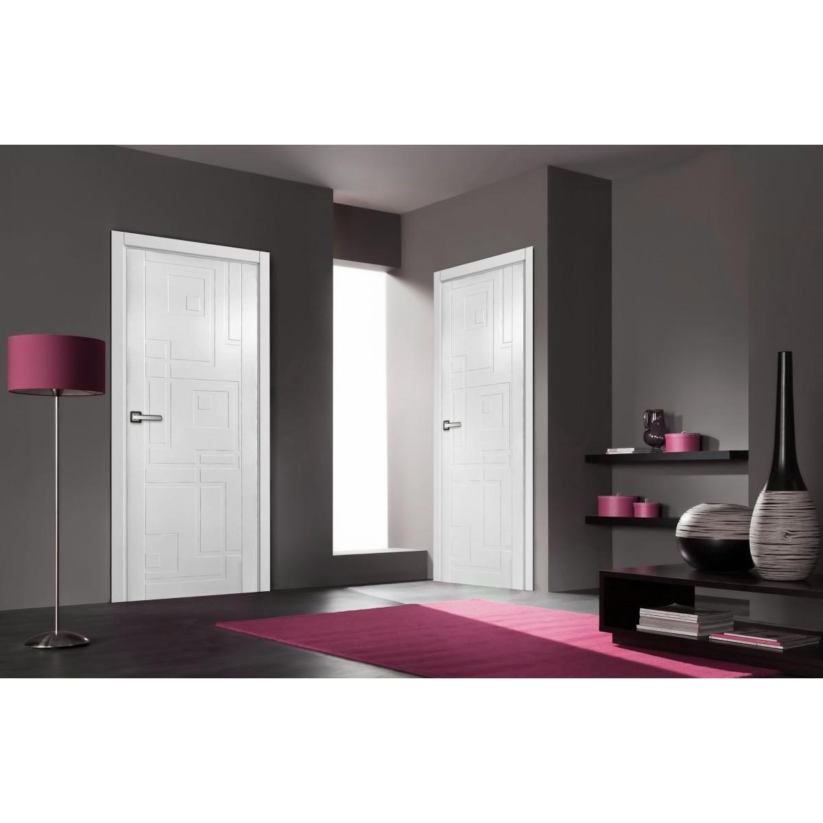Дверь Межкомнатная Глухая Верде 190x80 Эмаль Цвет Серый С Фурнитурой