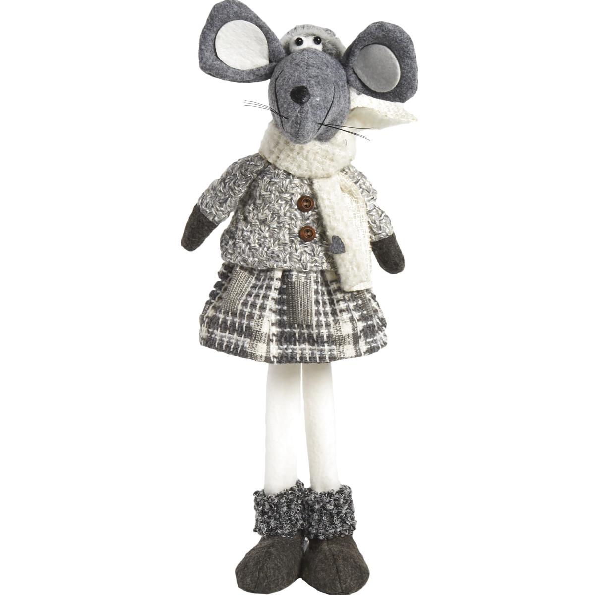 Мягкая Игрушка Мышка Серая 54