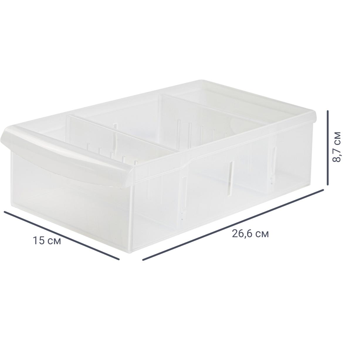 Контейнер Rolly 15x26.6x8.7 см 2.65 л пластик цвет прозрачный