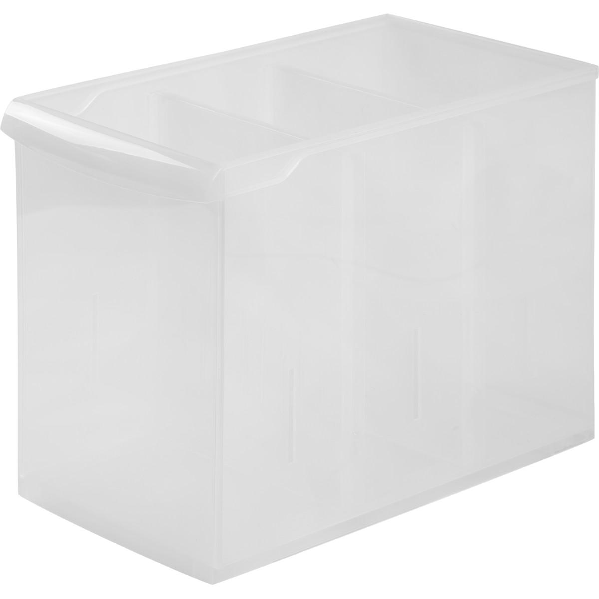 Контейнер Rolly 16.5x30.5x24.2 см 10.6 л пластик цвет прозрачный