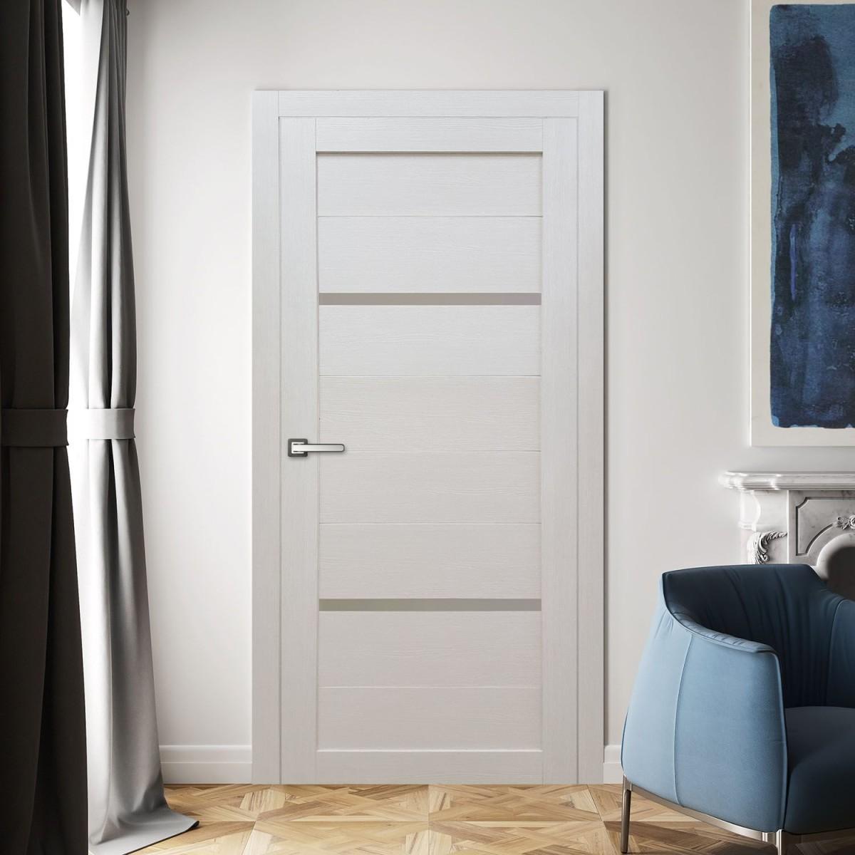 Дверь Межкомнатная Остеклённая Бэлла 60x200 Ламинация Цвет Кремовый С Фурнитурой