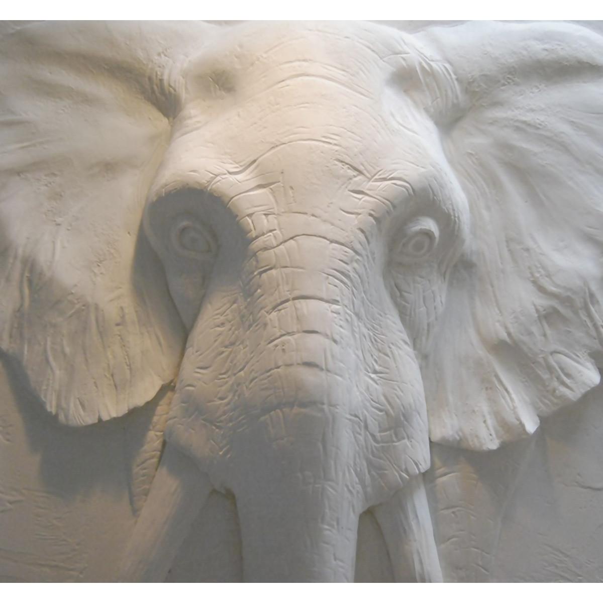 Фотообои 3D Flizart «Каменный слон» флизелиновые 300x280 см