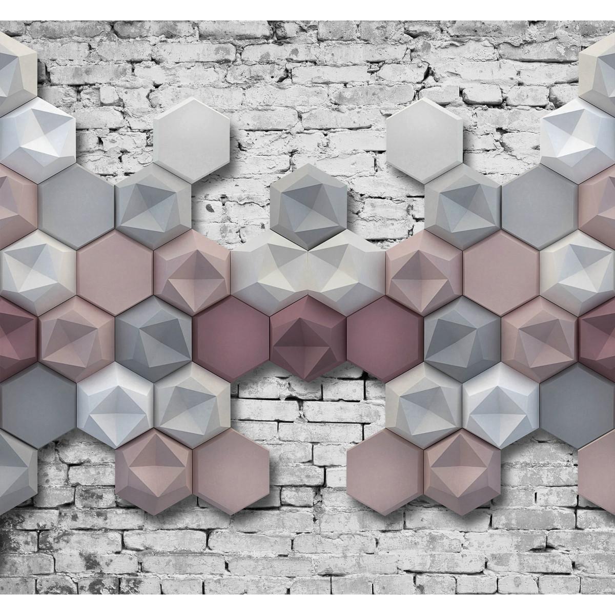 Фотообои 3D Flizart «Стереометрия» флизелиновые 300x280 см