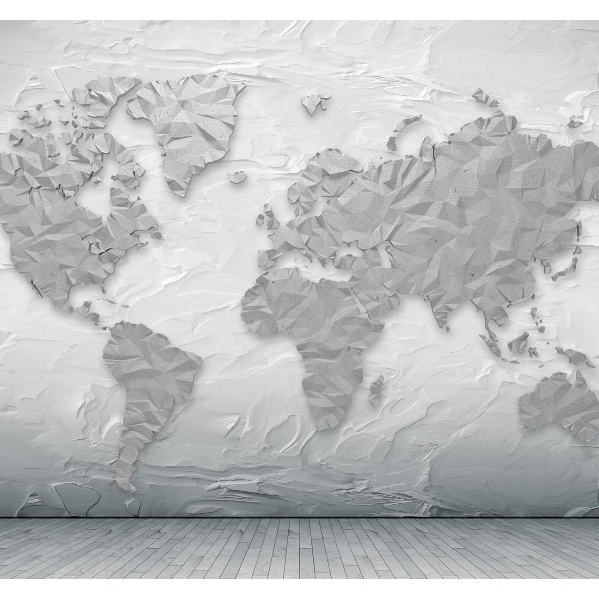 Фотообои 3D Flizart «Объемная карта» флизелиновые 300x280 см
