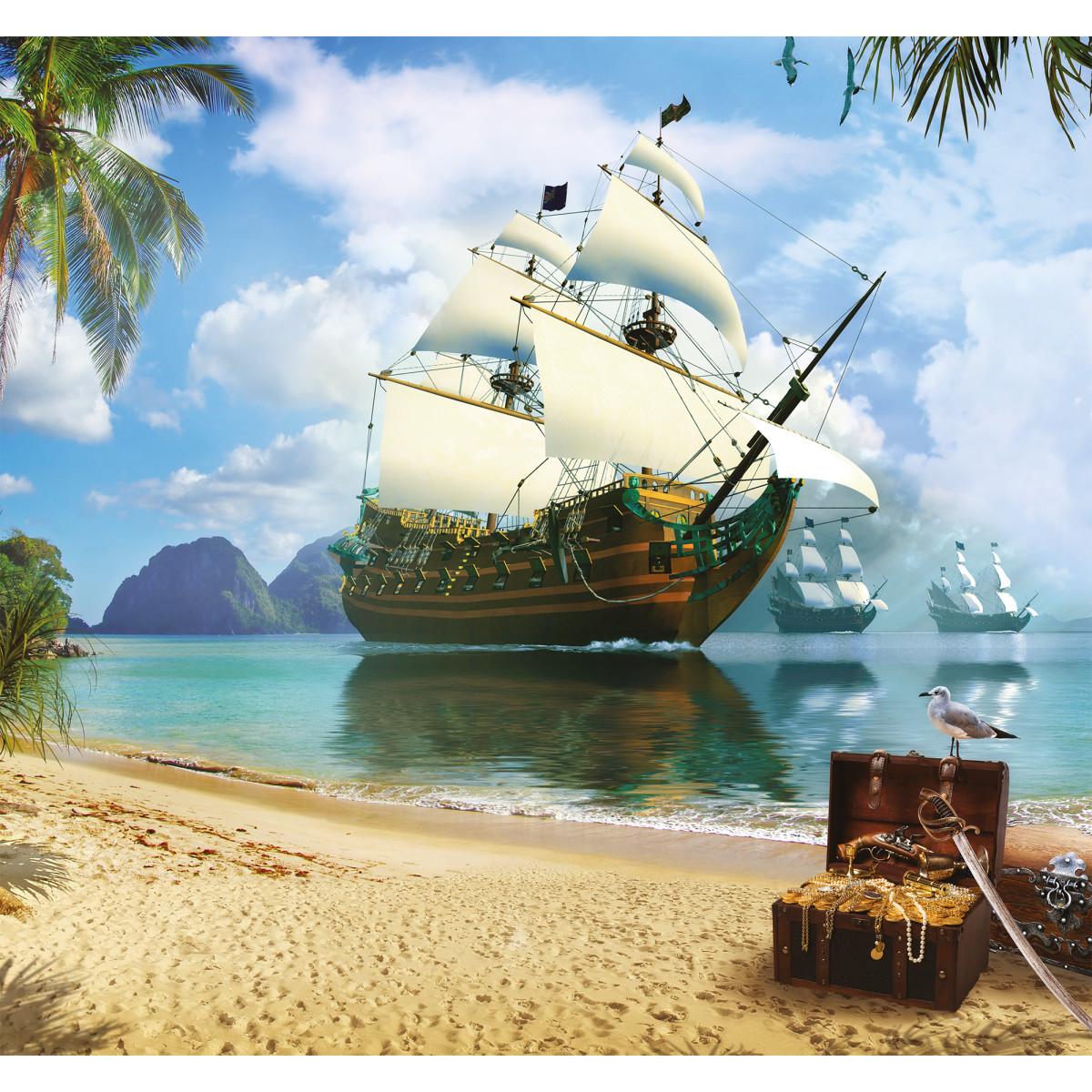 Фотообои 3D Flizart «Пиратская гавань» флизелиновые 300x280 см
