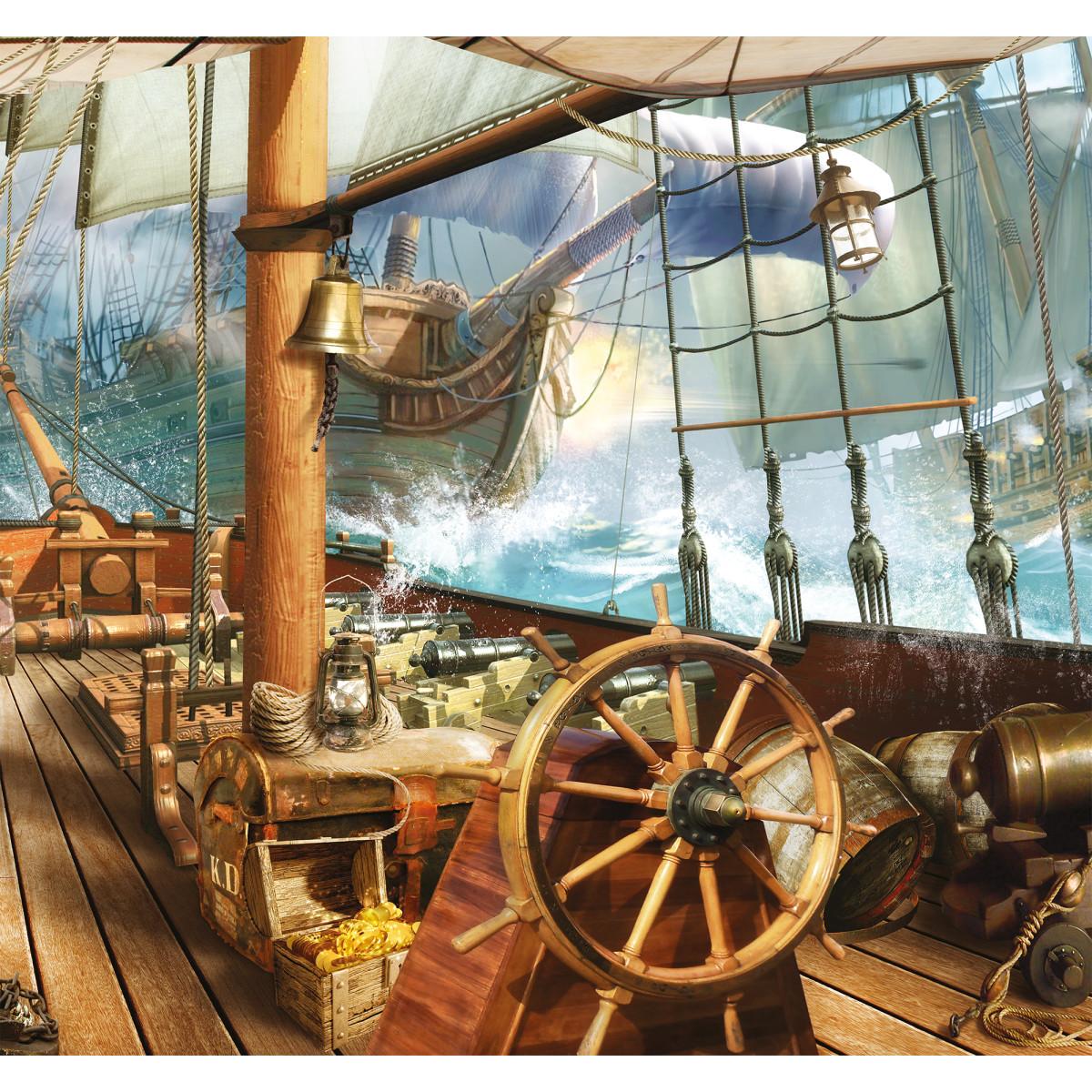 Фотообои 3D Flizart «Пиратский бой» флизелиновые 300x280 см