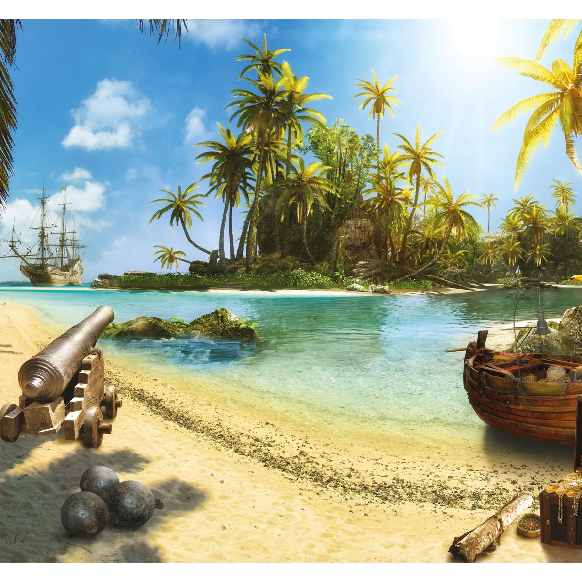 Фотообои 3D Flizart «Остров сокровищ» флизелиновые 300x280 см