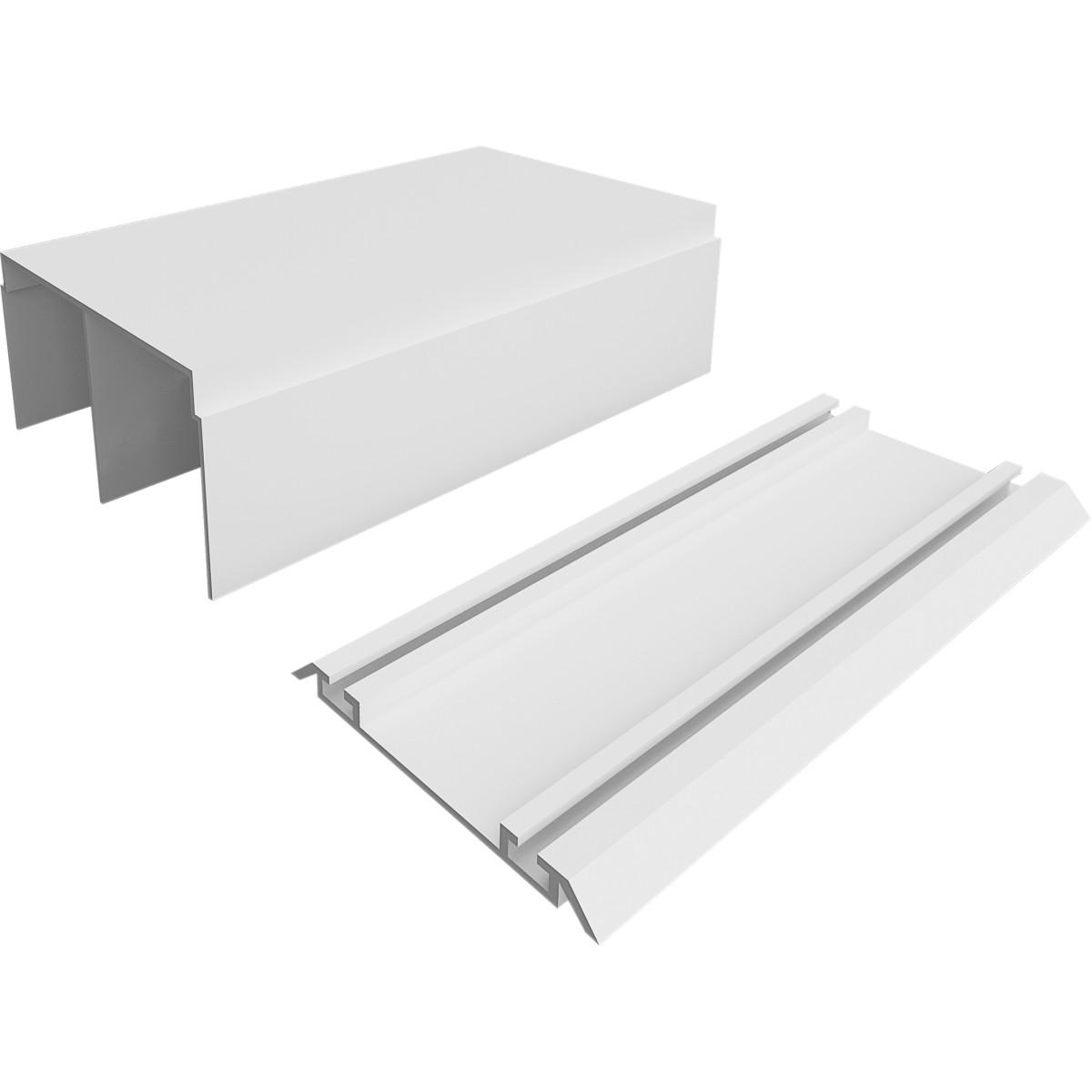 Комплект направляющих Spaceo 1383 мм цвет белый