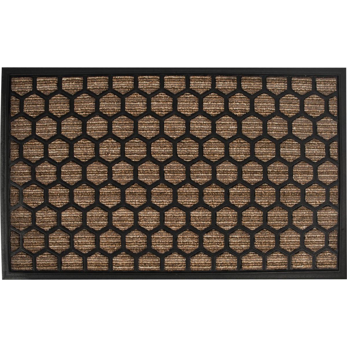 Коврик Porto 1086 45x75 см резина цвет коричневый
