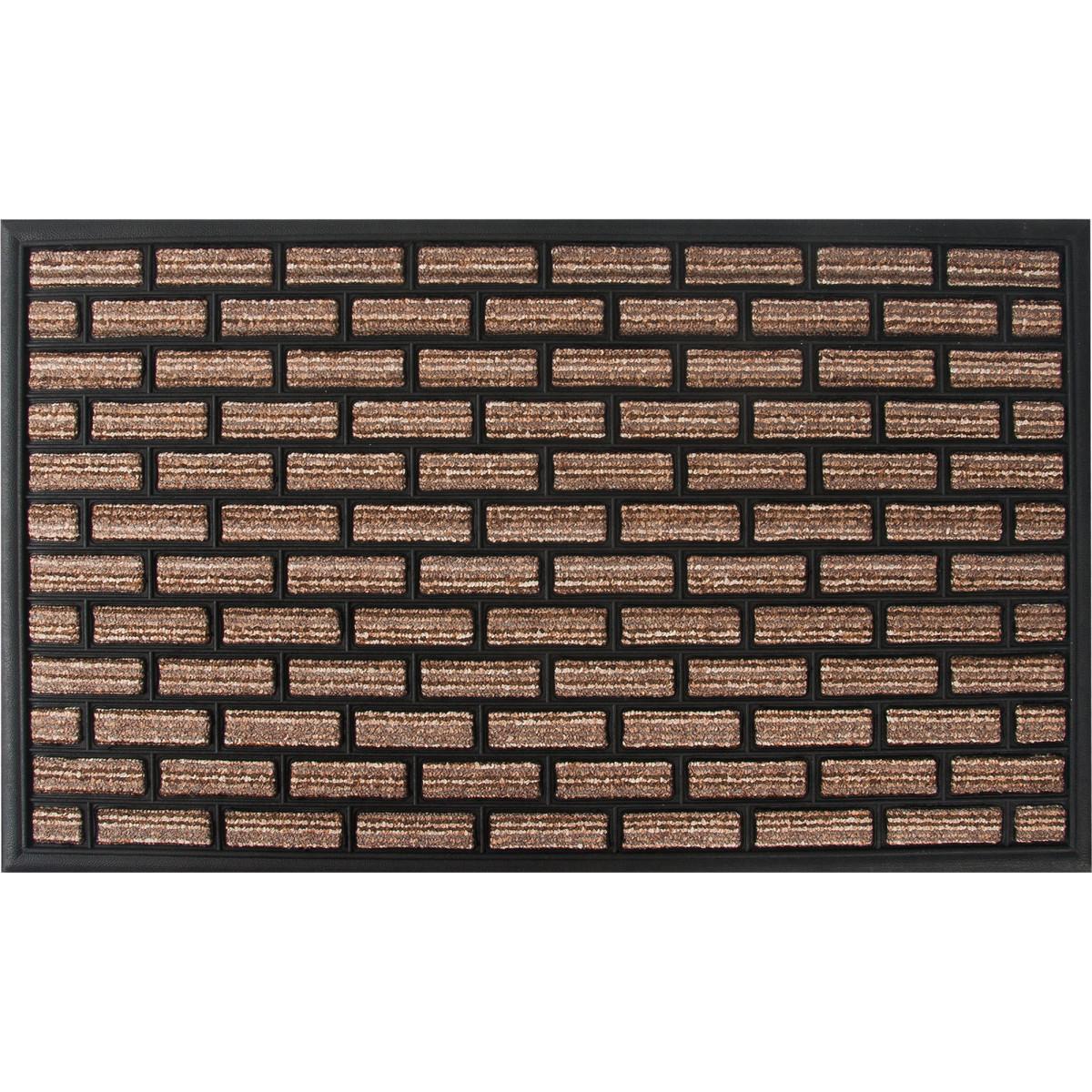 Коврик Porto 1051 45x75 см резина цвет коричневый
