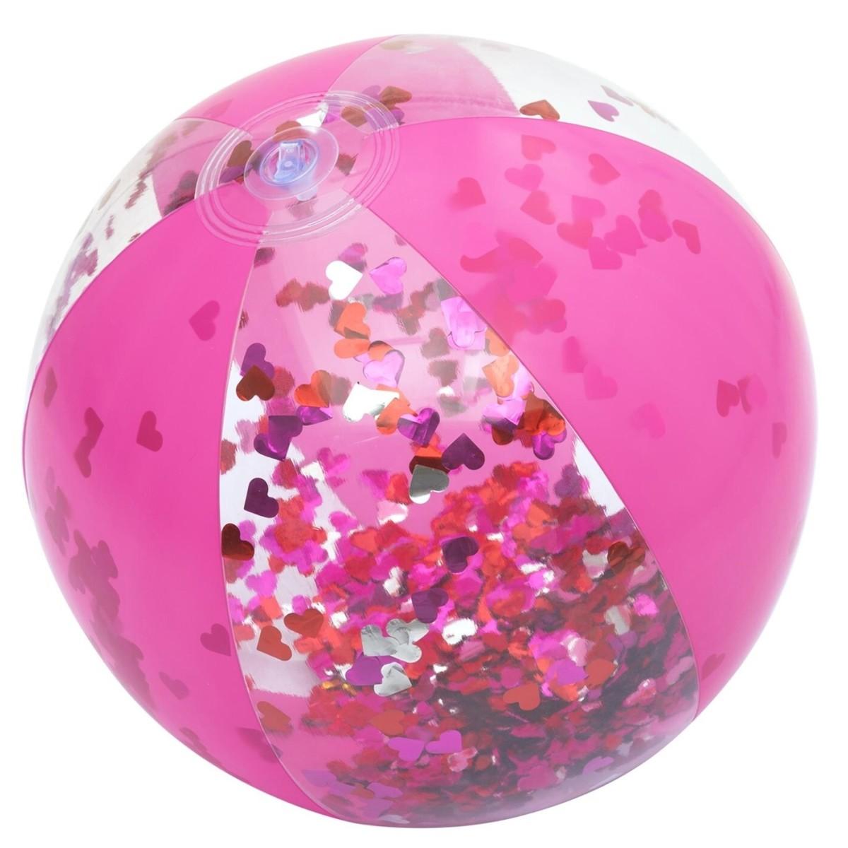 Мяч надувной 41 см с блестками