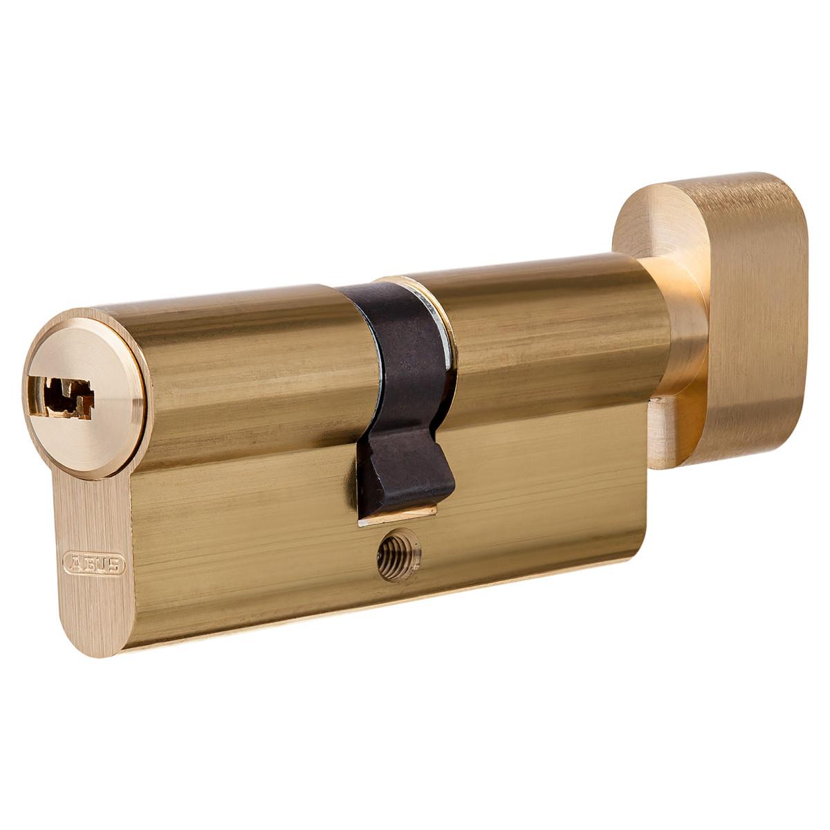 Цилиндр Abus 30х30 мм ключ/вертушка цвет золото
