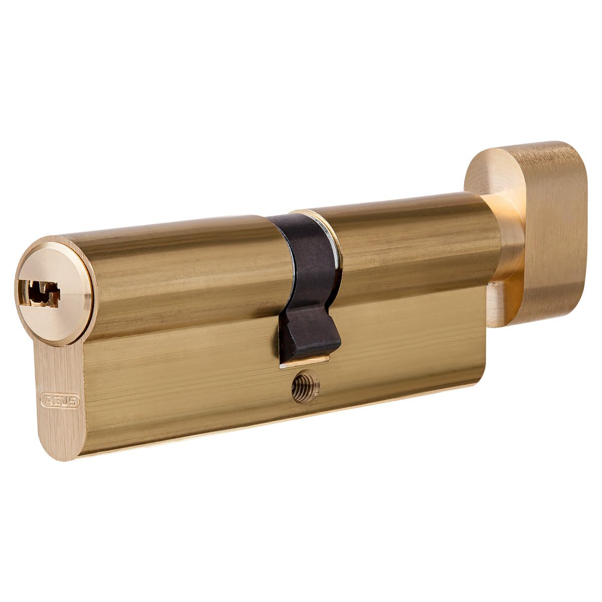 Цилиндр Abus 40х40 мм ключ/вертушка цвет золото