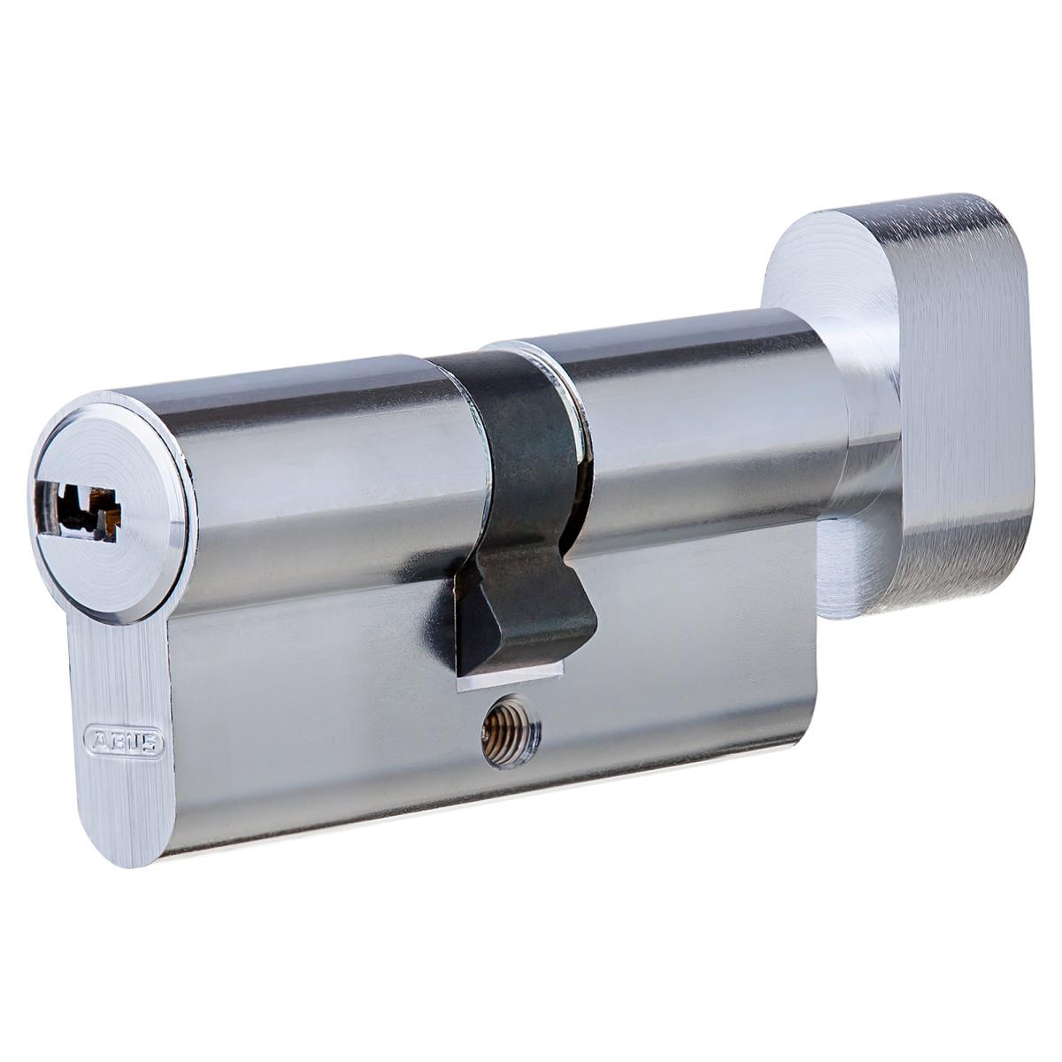 Цилиндр Abus 30х30 мм ключ/вертушка цвет никель