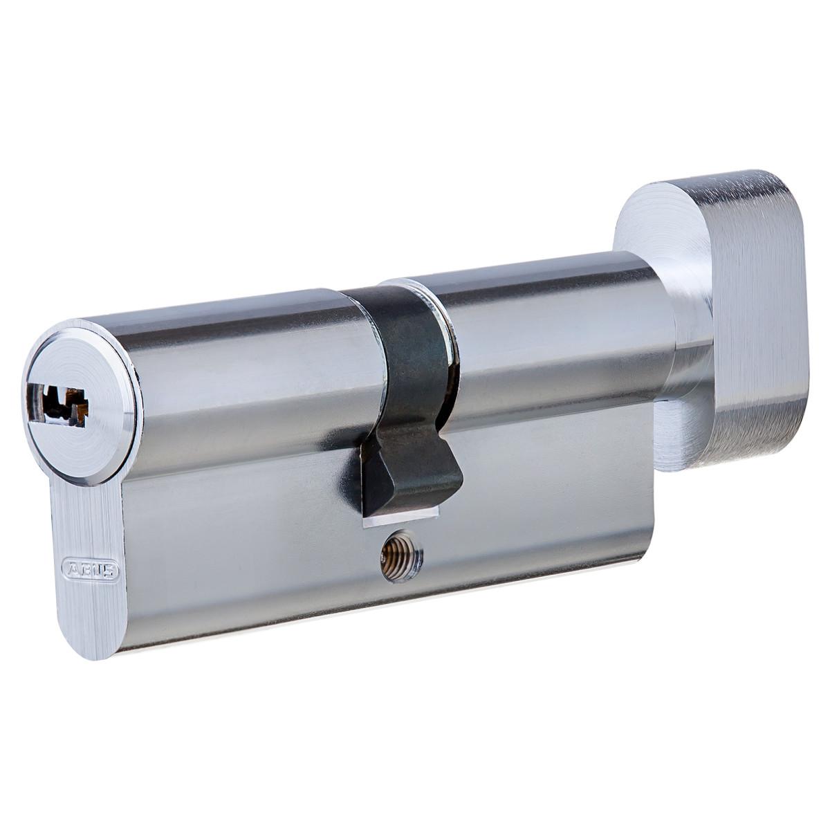 Цилиндр Abus 35х35 мм ключ/вертушка цвет никель