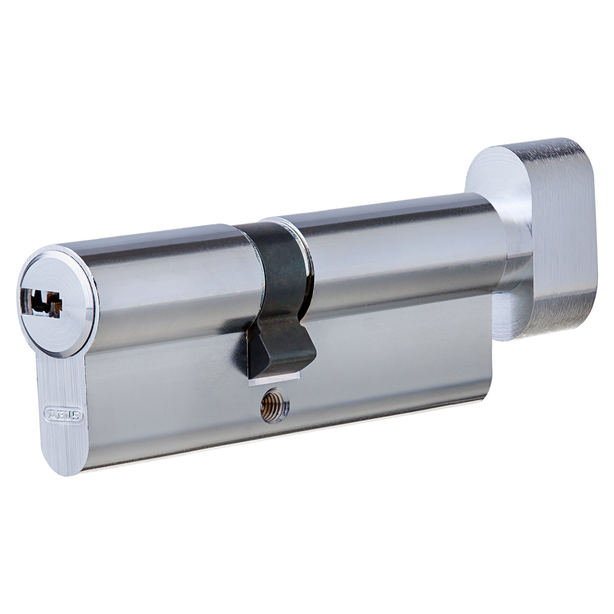 Цилиндр Abus 35х45 мм ключ/вертушка цвет никель