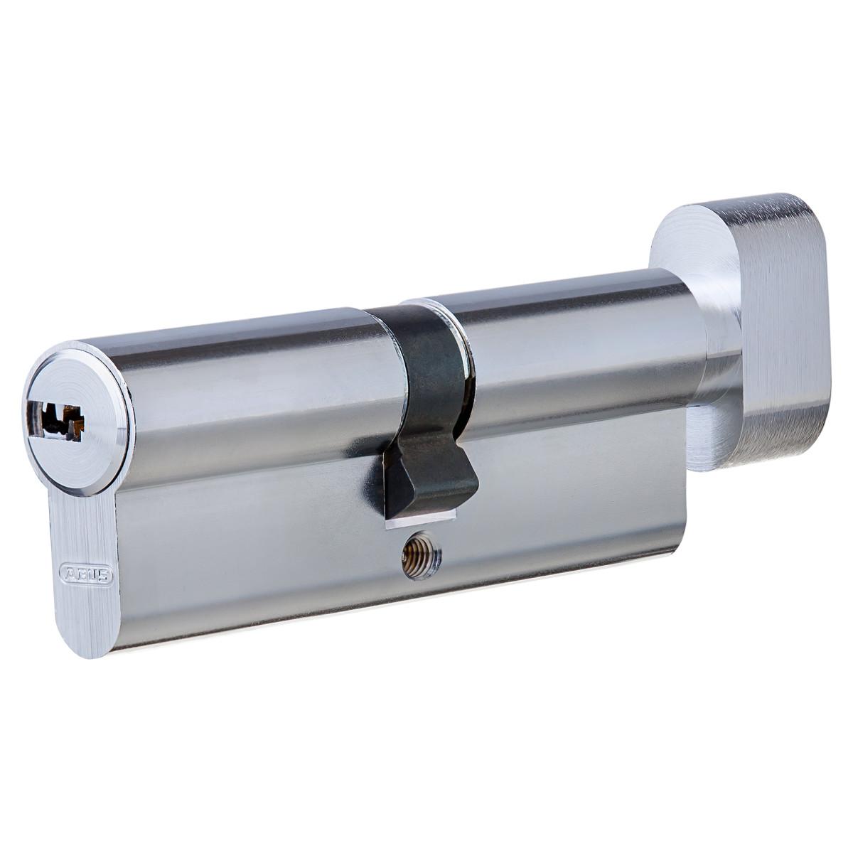 Цилиндр Abus 40х40 мм ключ/вертушка цвет никель