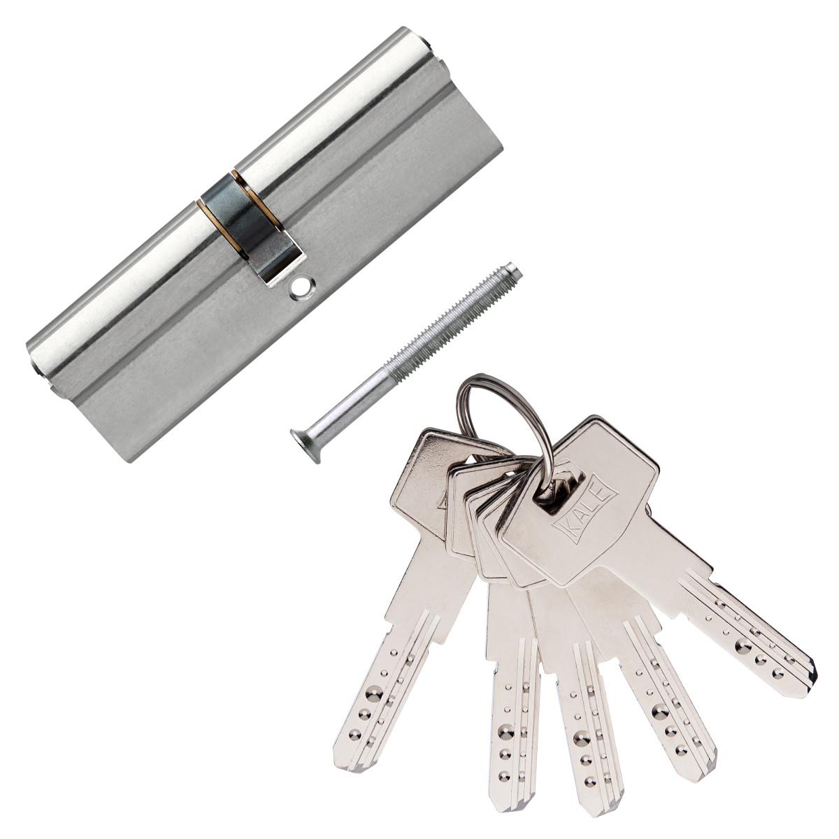 Цилиндр Kale 164bn-100-Np 45Х45 Ключ/Ключ Цвет Никель