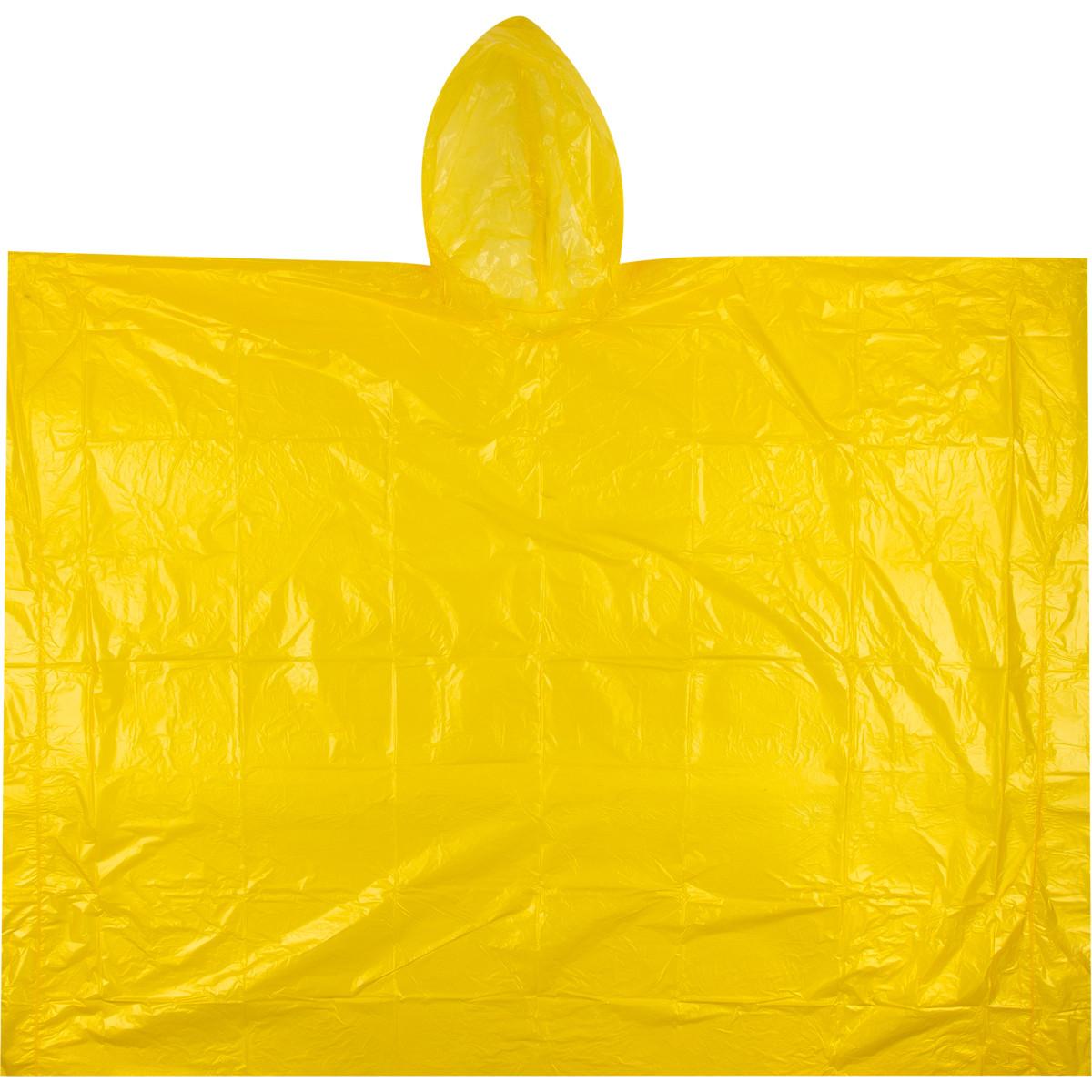 Плащ-дождевик пончо цвет желтый