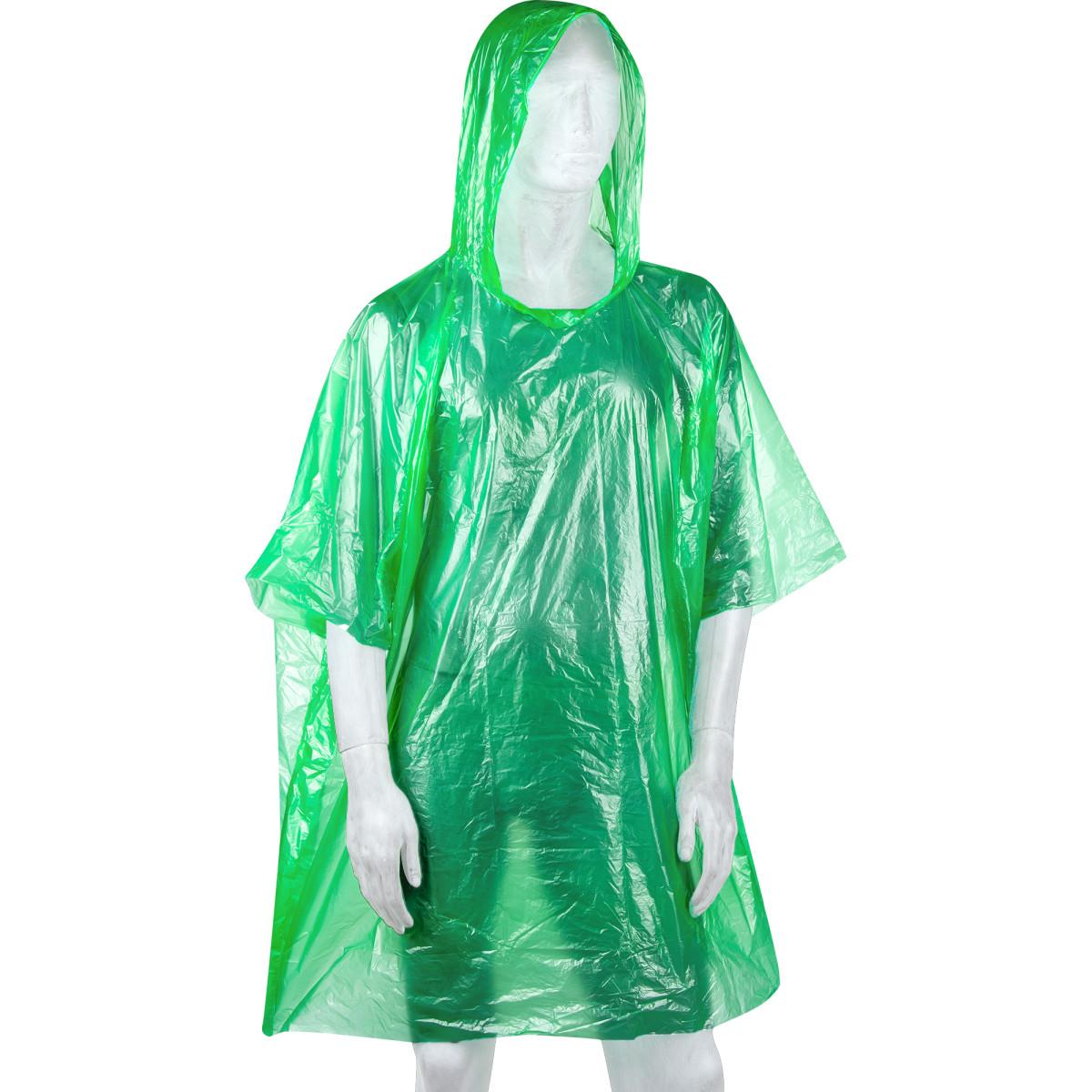 Плащ-дождевик пончо цвет зеленый