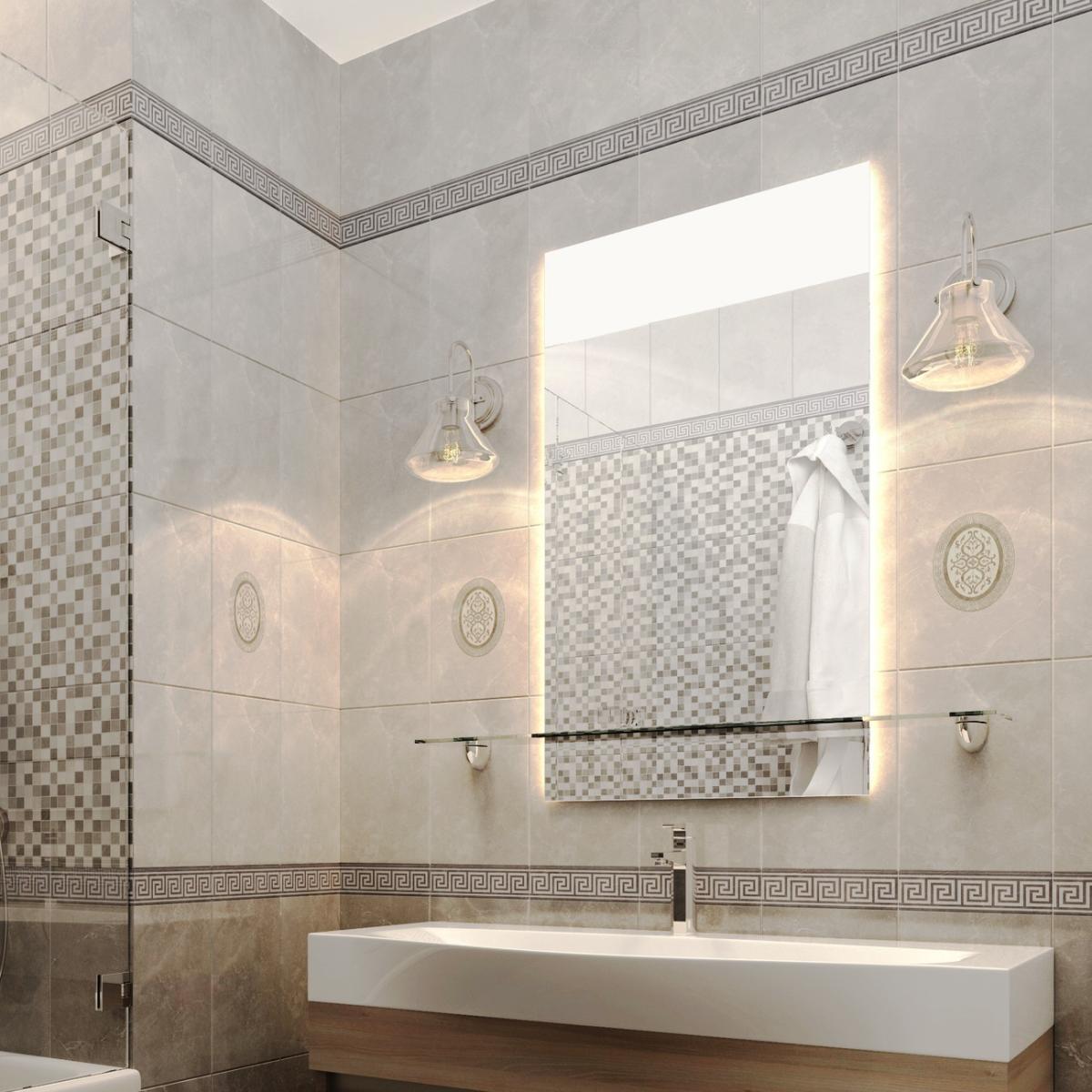 Плитка настенная Дора 20x30 см 144 м² цвет светло-серый