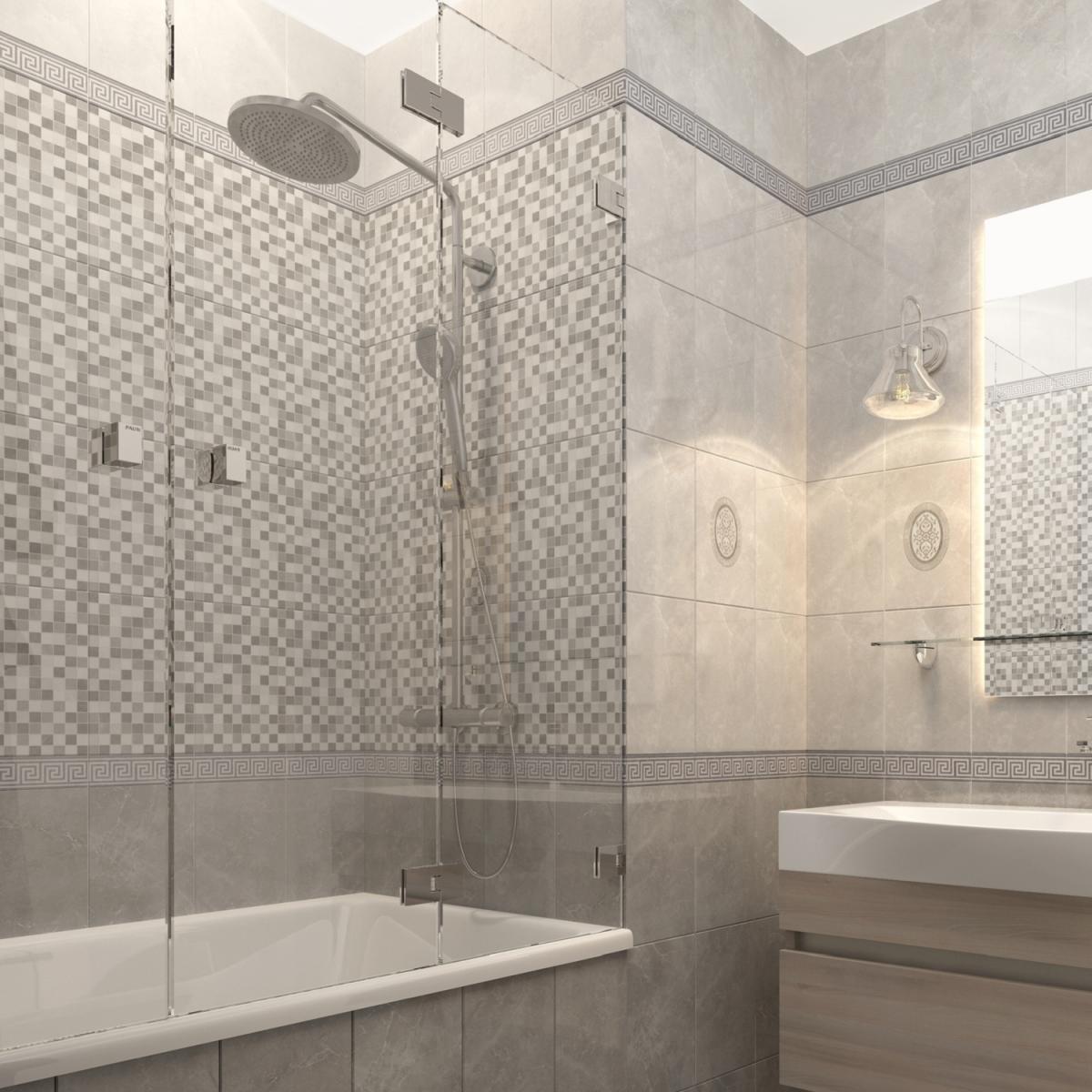 Плитка настенная Дора 20x30 см 144 м² цвет серый микс