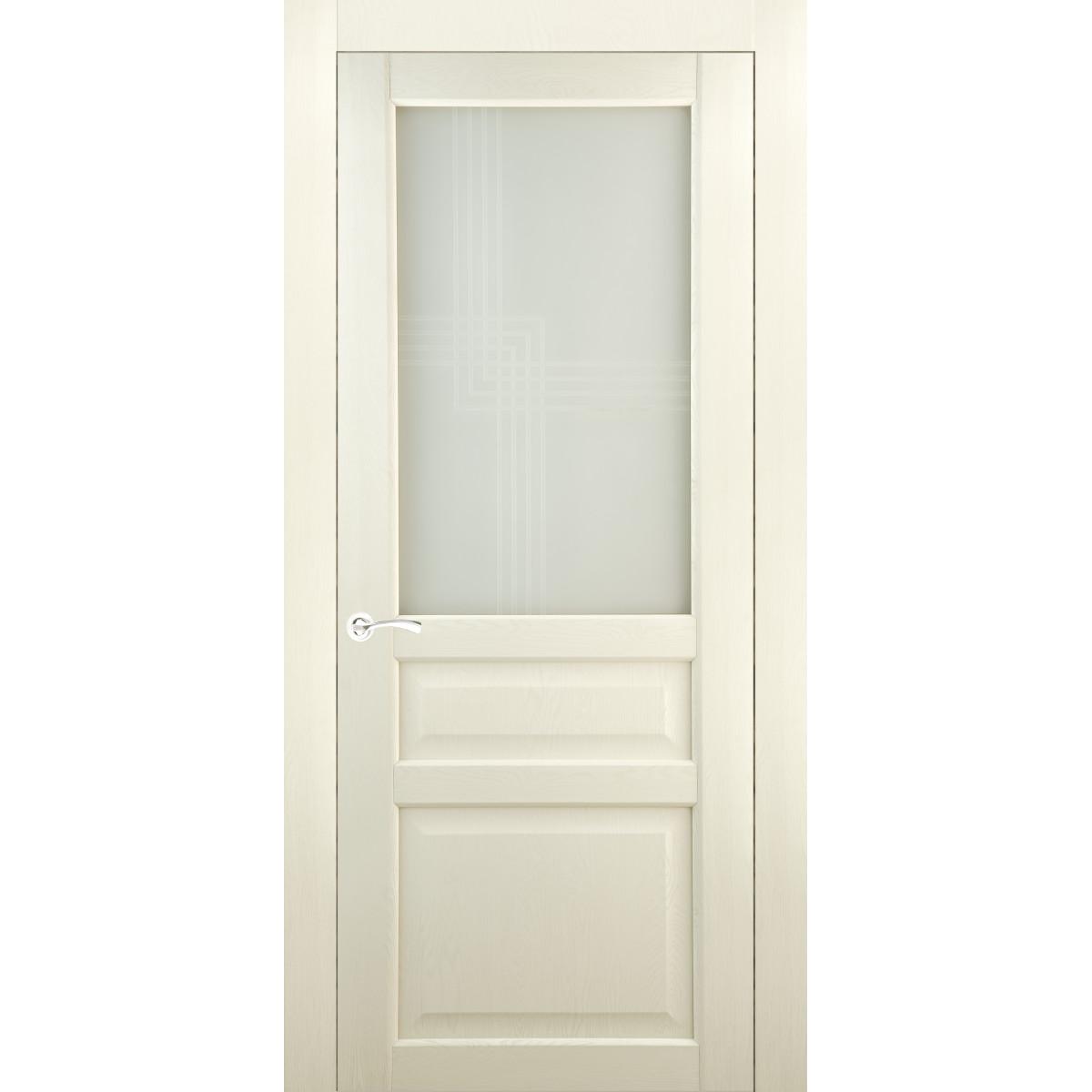 Дверь Межкомнатная Остеклённая Artens Мария 60x200 Пвх Цвет Айвори С Фурнитурой
