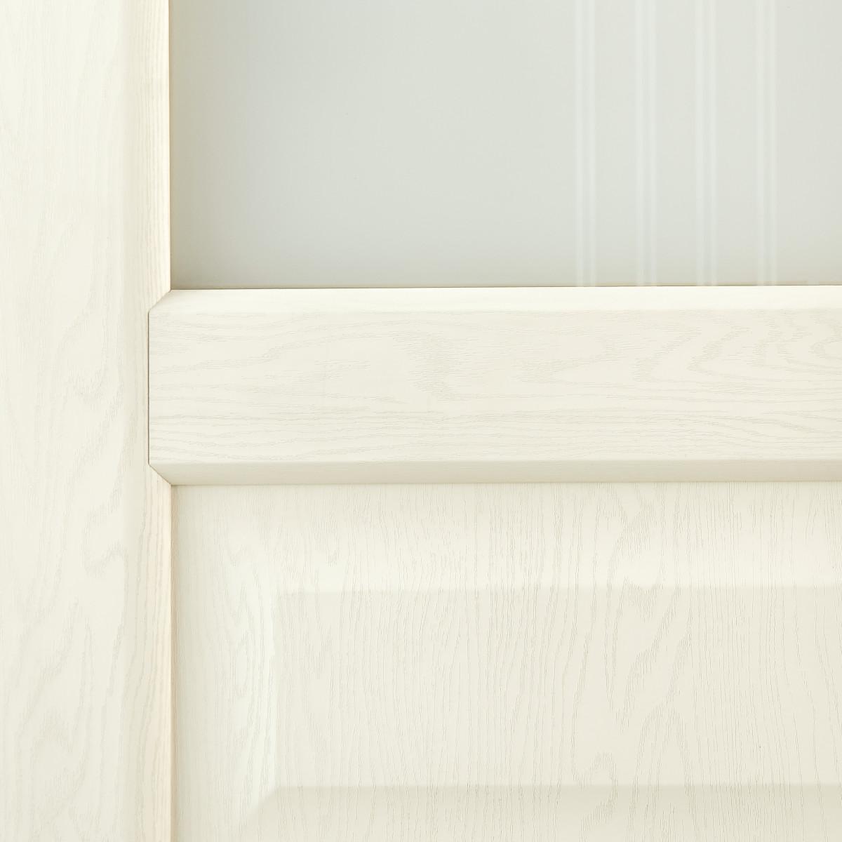 Дверь Межкомнатная Остеклённая Artens Мария 80x200 Пвх Цвет Айвори С Фурнитурой