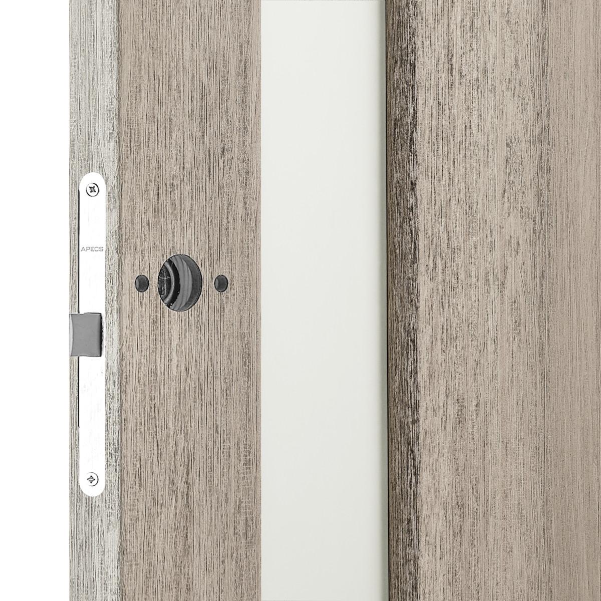 Дверь Межкомнатная Остеклённая Artens Мария 80x200 Пвх Цвет Шимо