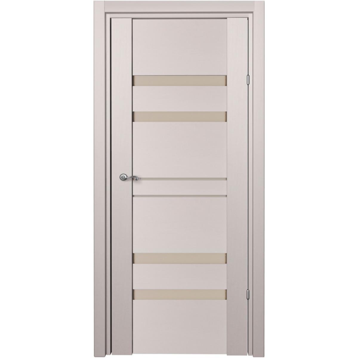 Дверь межкомнатная глухая c замком и петлями в комплекте Artens велдон 60x200 см Hardflex цвет Ясень