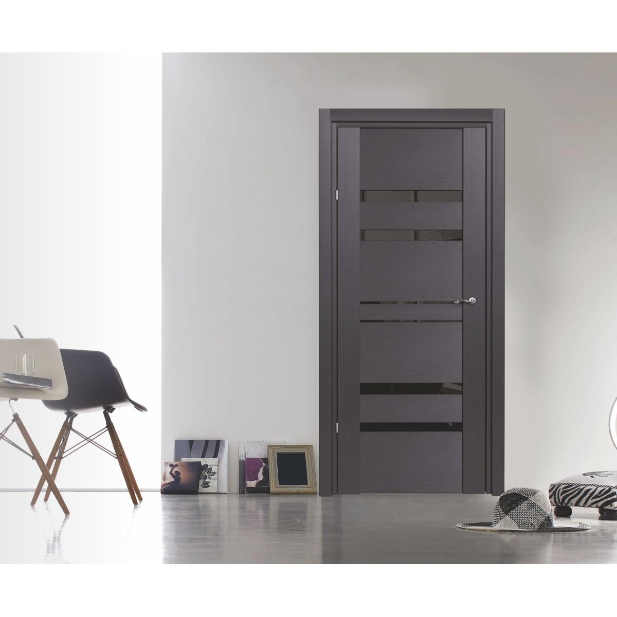 Дверь Межкомнатная Глухая C Замком И Петлями В Комплекте Artens Велдон 60x200 Hardflex Цвет Грей
