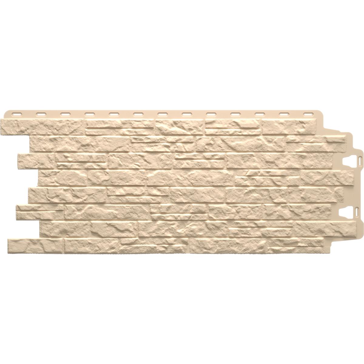 Фасадная панель Песчаник слоистый цвет бежевый