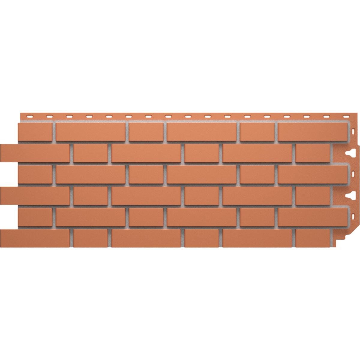 Фасадная панель Кирпич гладкий цвет красный