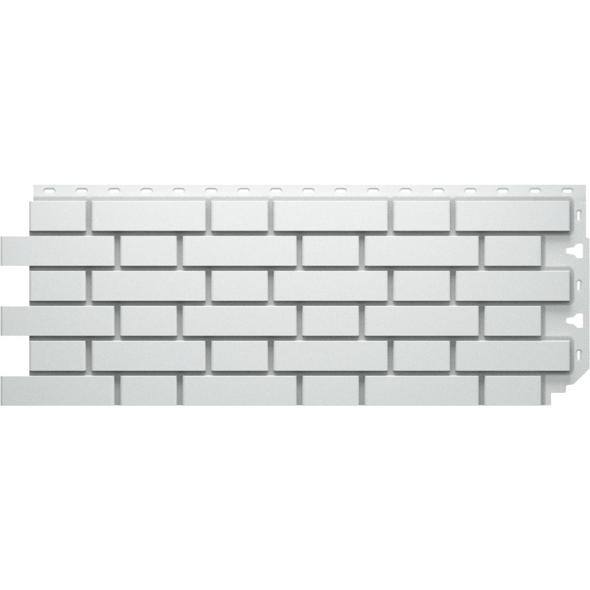 Фасадная панель Кирпич гладкий цвет серый