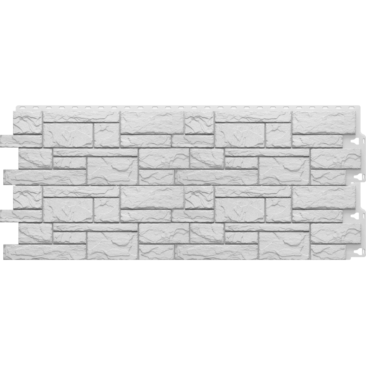 Фасадная панель Камень крупный цвет белый