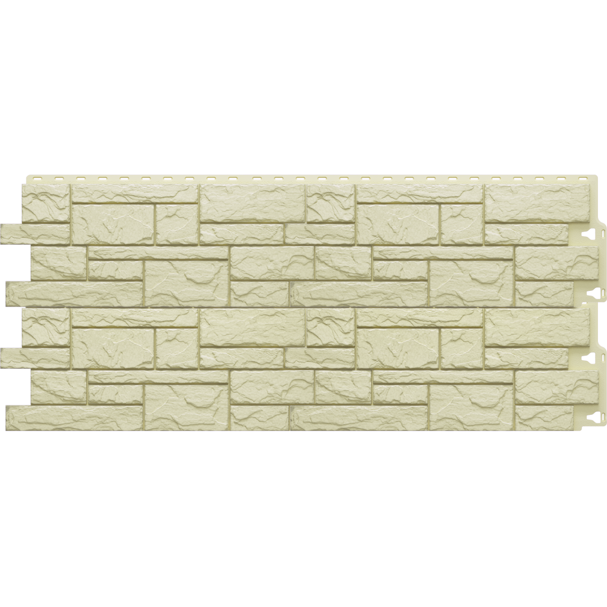 Фасадная панель Камень крупный цвет светло-жёлтый