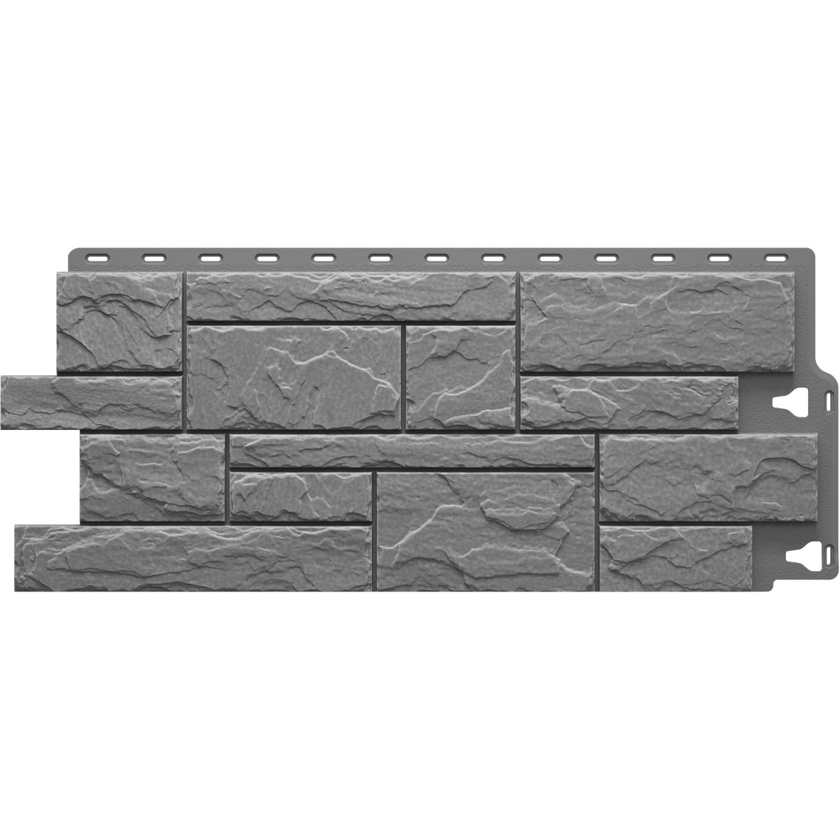 Фасадная панель Камень крупный цвет серый