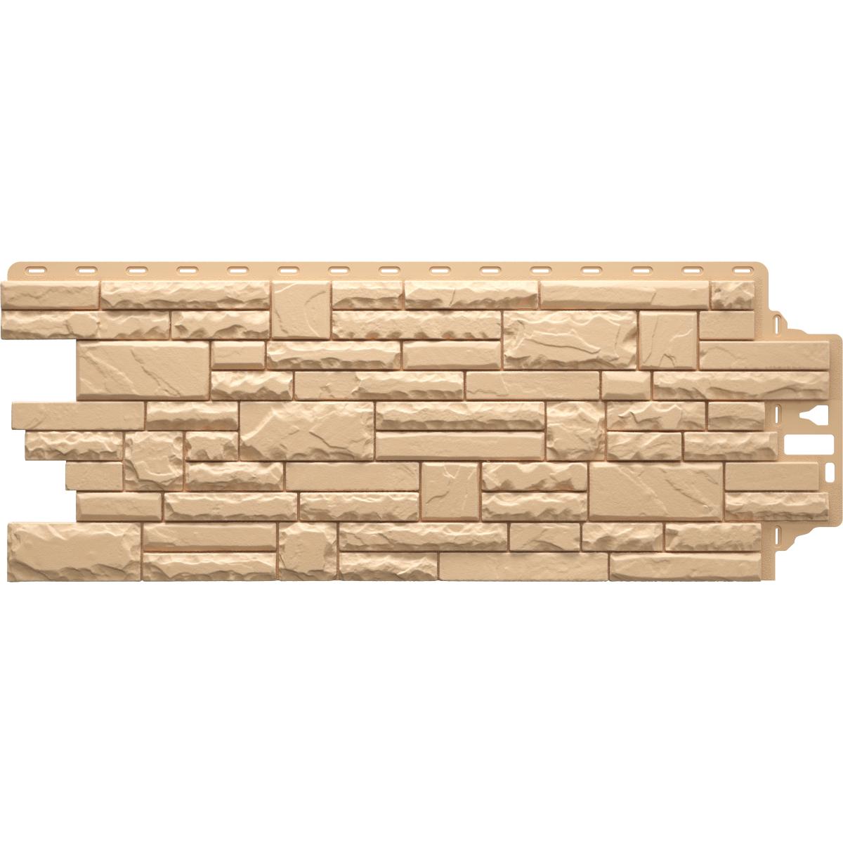 Фасадная панель Песчаник колотый цвет бежевый