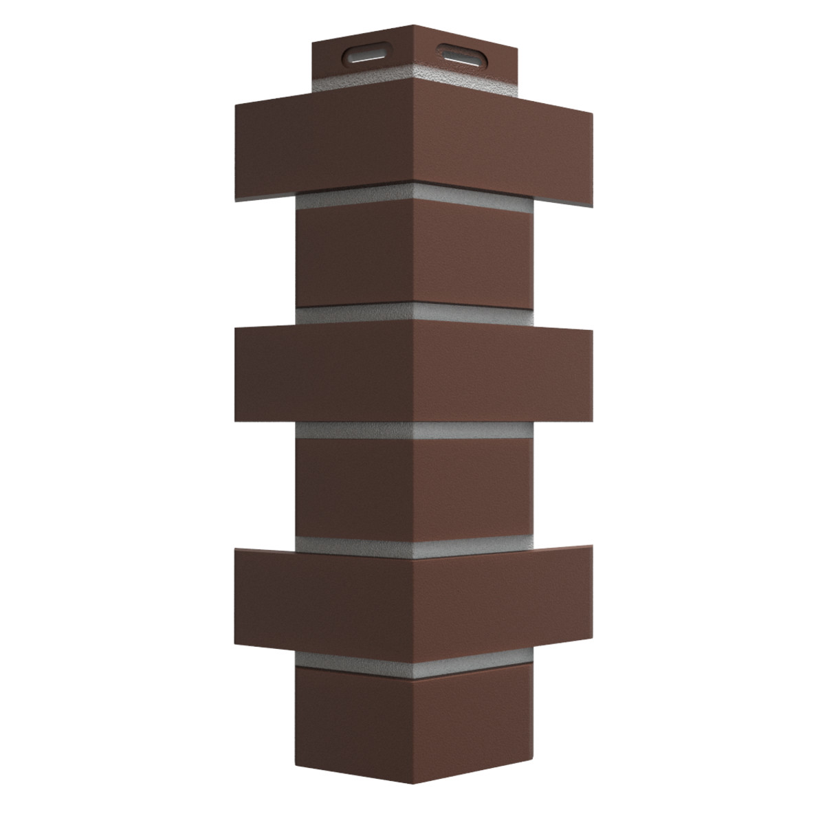 Угол наружный Dacha Кирпич гладкий цвет темно-коричневый