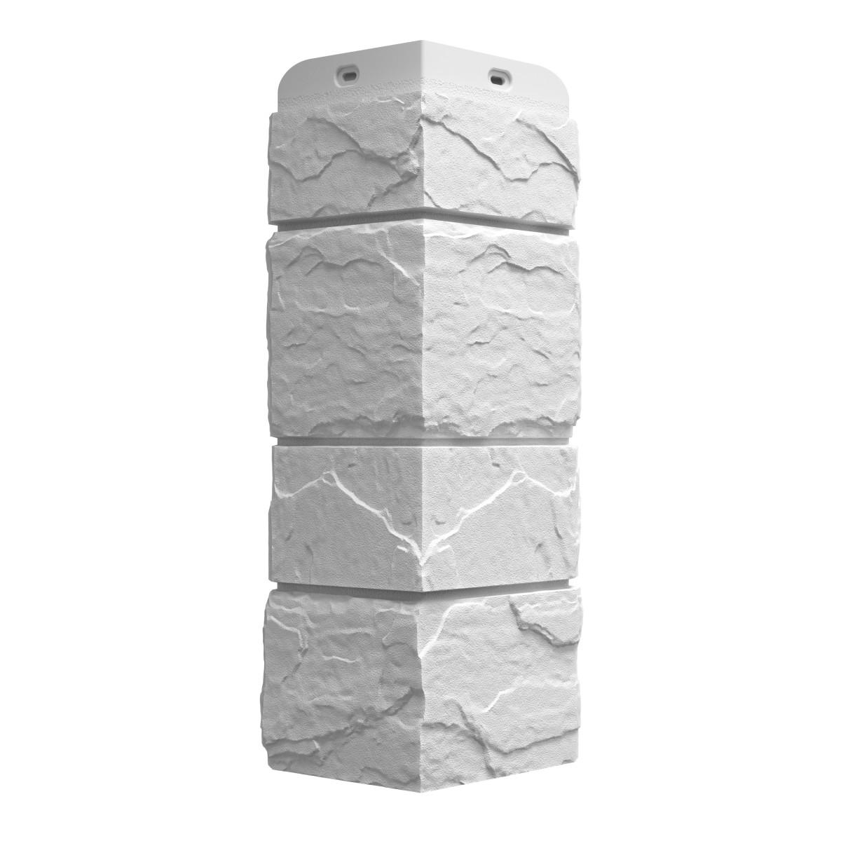 Угол наружный Dacha Камень крупный цвет белый