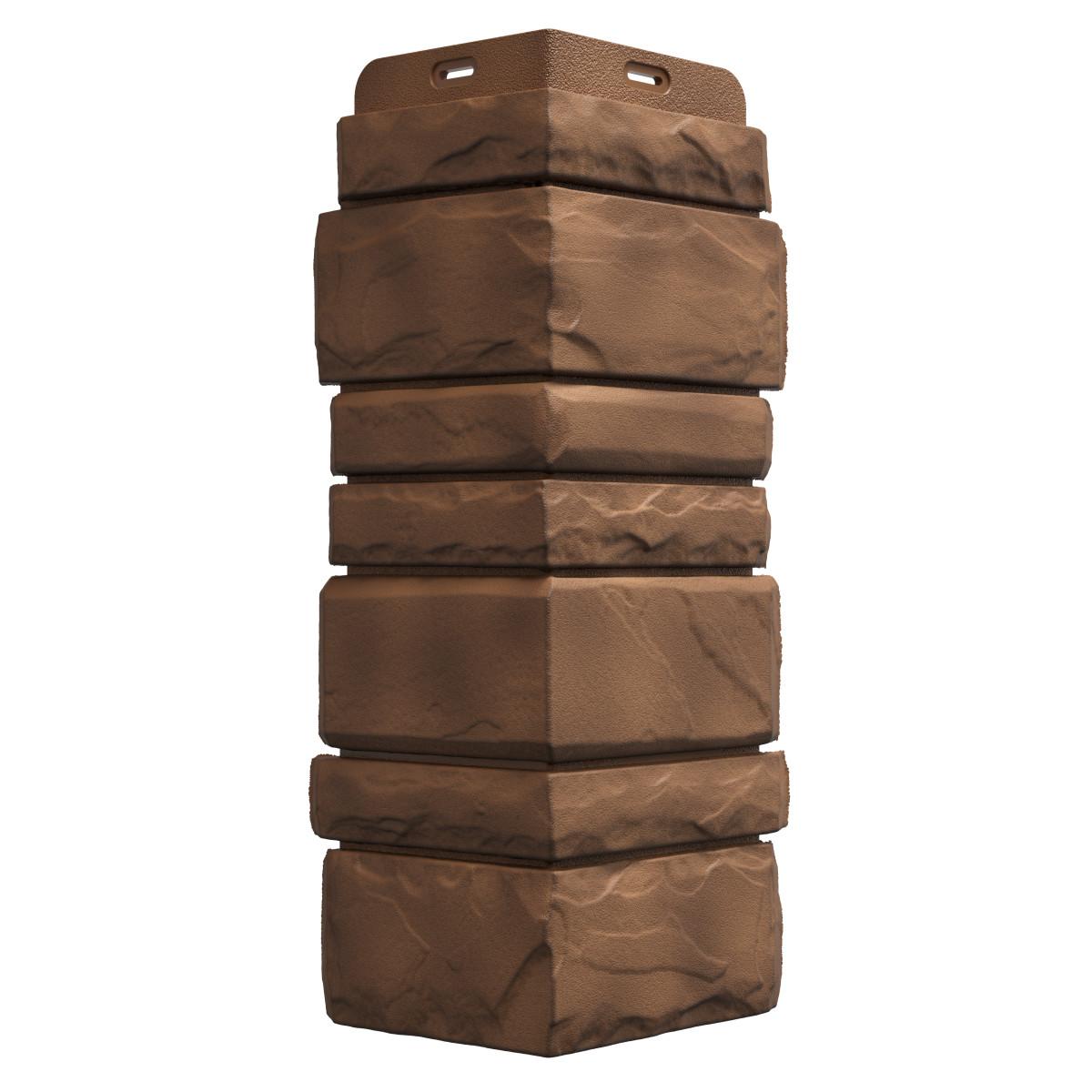 Угол наружный Dacha Песчаник колотый цвет темно-коричневый