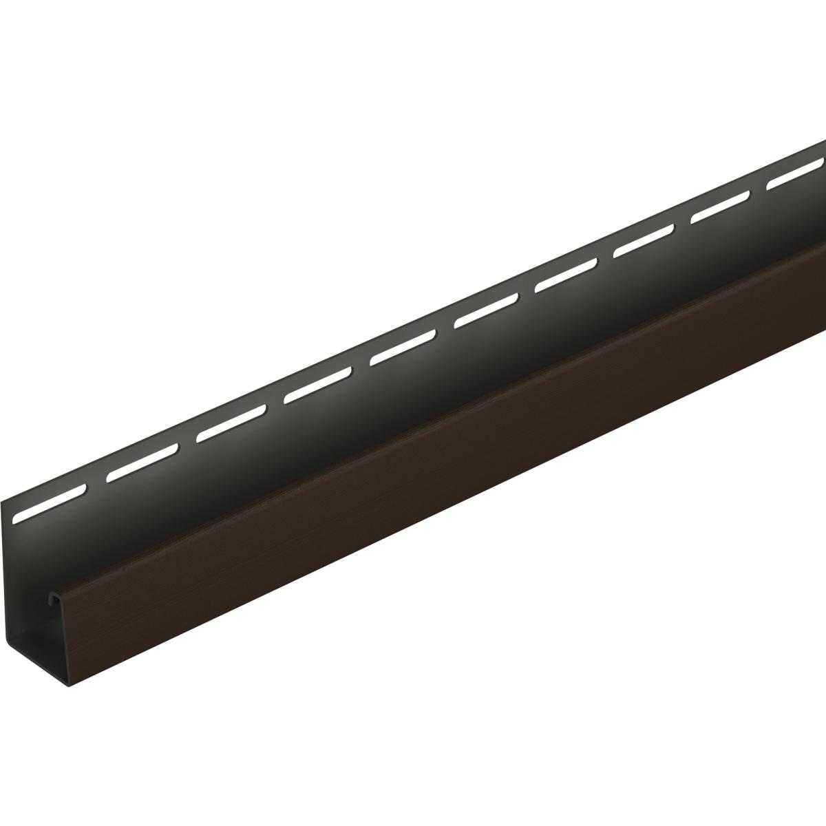 J-профиль для фасадных панелей Dacha 3 м цвет тёмно-коричневый