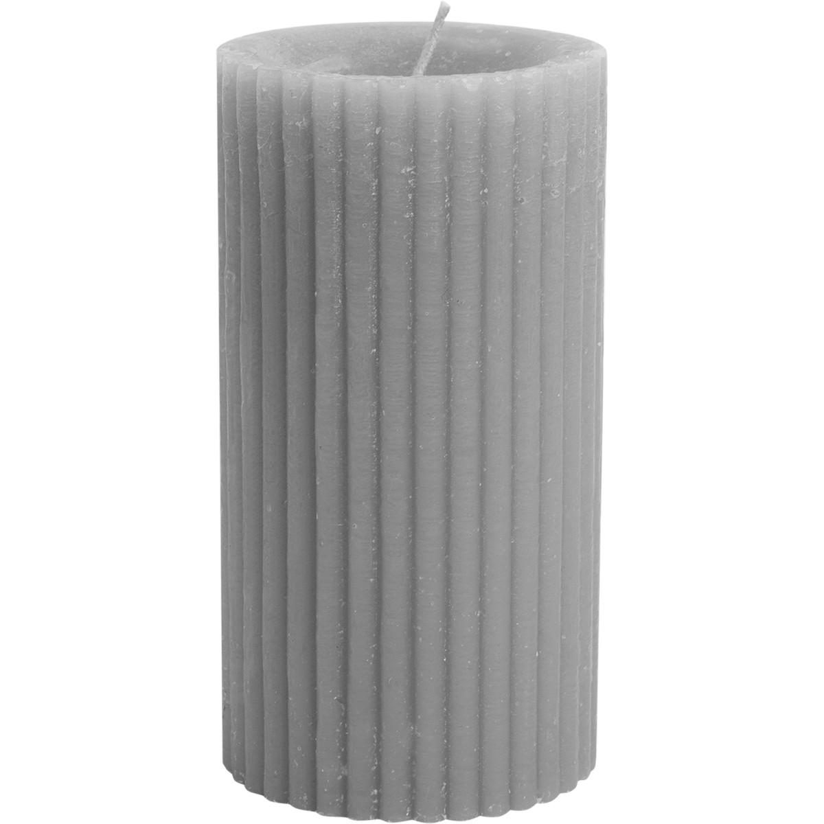 Свеча-столбик Формовая 7x13 см цвет серый